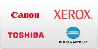 Canon, Konica – Minolta, Xerox,  Toshiba